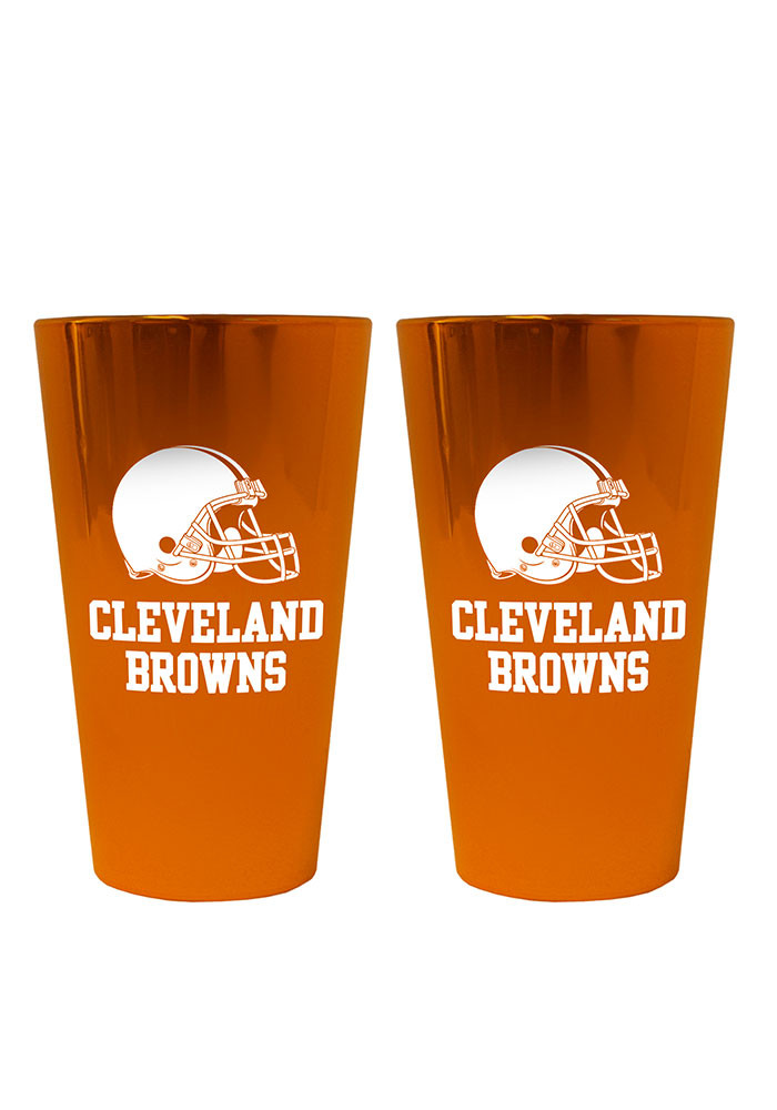 Cleveland Browns Lusterware Pint Glass - Image 1