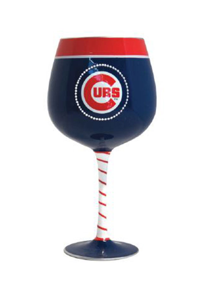 Chicago Cubs Artisan Painted Wine Glass 10161372