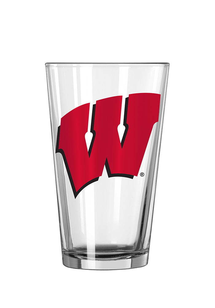 Wisconsin Badgers Team Logo Pint Glass - Image 1