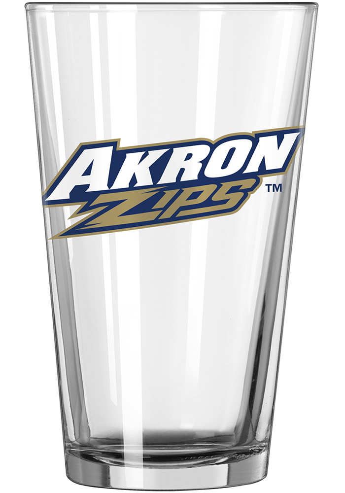 Akron Zips Primary Logo Pint Glass - Image 1