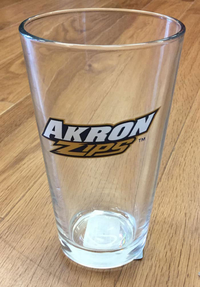 Akron Zips Primary Logo Pint Glass - Image 2