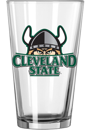 Cleveland State Vikings Primary Logo Pint Glass