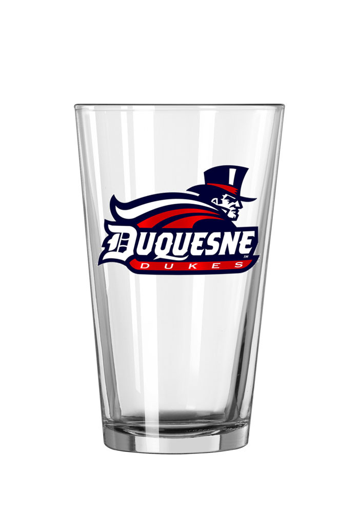 Duquesne Dukes Primary Logo Pint Glass - Image 1