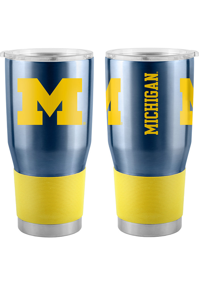 Michigan Wolverines 30oz Ultra Navy Blue Stainless Steel Tumbler - Image 1