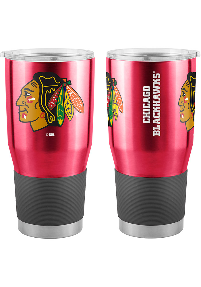 Chicago Blackhawks 30oz Ultra Stainless Steel Tumbler - Black - Image 1
