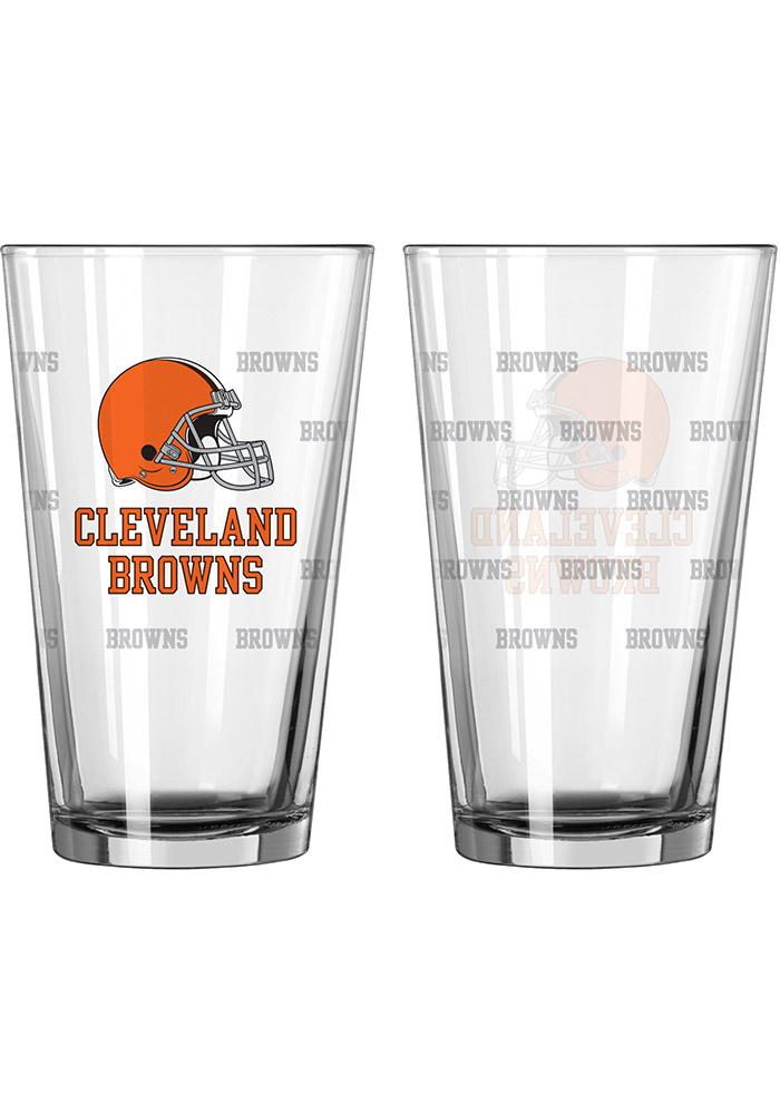 Cleveland Browns Satin Etch Pint Glass - Image 1