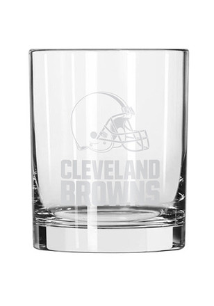 Cleveland Browns Etched Rock Glass