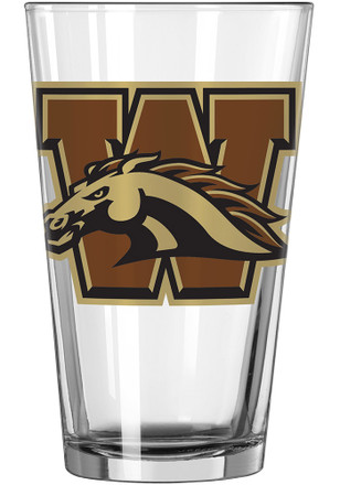 Western Michigan Broncos Vintage Logo Pint Glass