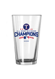 Texas Rangers 2016 Division Champ Satin Etch Pint Glass