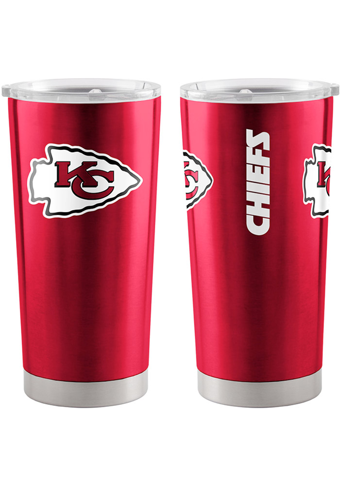 Kansas City Chiefs 20oz Ultra Red Stainless Steel Tumbler - Image 1