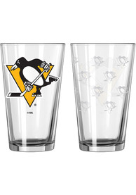Pittsburgh Penguins Satin Etch Pint Glass