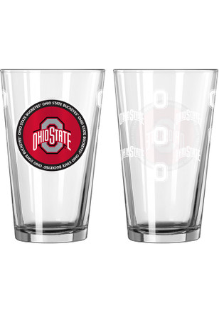 Ohio State Buckeyes 16 oz Clear Pint Glass
