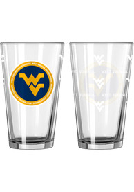 West Virginia Mountaineers 16 oz Clear Pint Glass