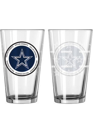 Dallas Cowboys 16 oz Clear Pint Glass
