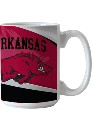 Arkansas Razorbacks 15oz Wave Ceramic Mug