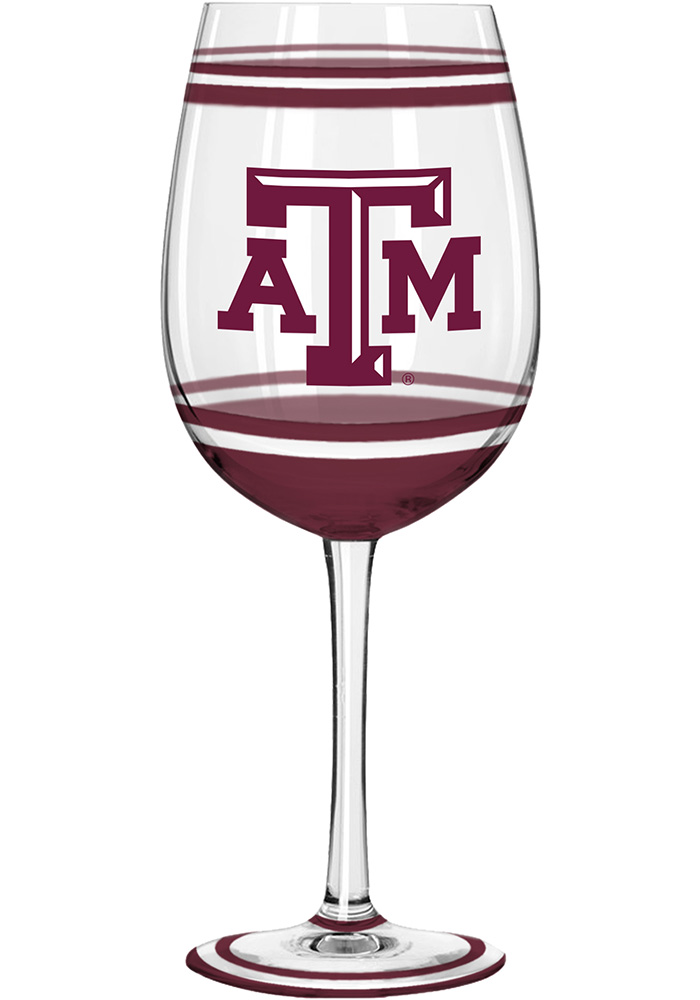 Texas A&M Aggies 18oz Brushed Painted Wine Glass - Image 1