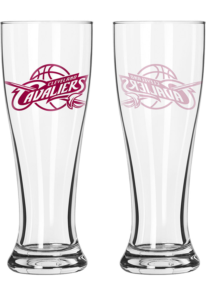 Cleveland Cavaliers 16oz Clear Pilsner Glass - Image 1