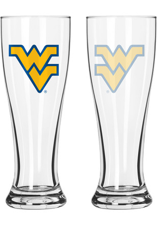 West Virginia Mountaineers 16oz Clear Pilsner Glass
