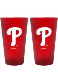 Philadelphia Phillies 16oz Team Color Frosted Pint Glass