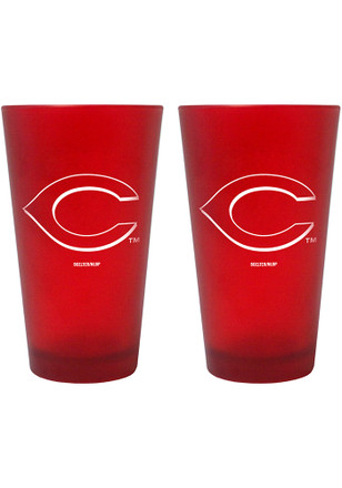 Cincinnati Reds 16oz Team Color Frosted Pint Glass