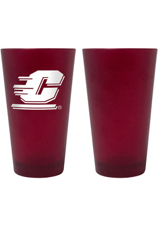 Central Michigan Chippewas 16oz Team Color Frosted Pint Glass