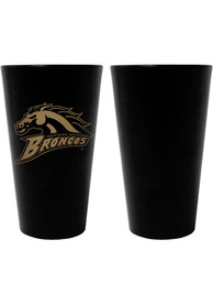 Western Michigan Broncos 16oz Team Color Frosted Pint Glass