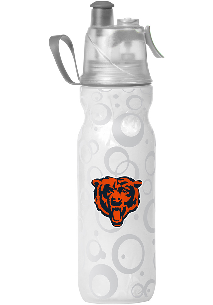 Chicago Bears Mist n' Sip 20oz Water Bottle, White, PLASTIC