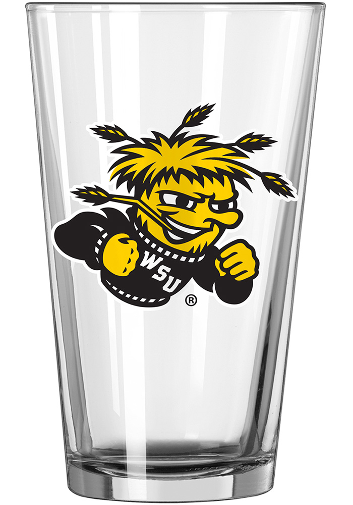 Wichita State Shockers Mascot 16oz Pint Glass - Image 1