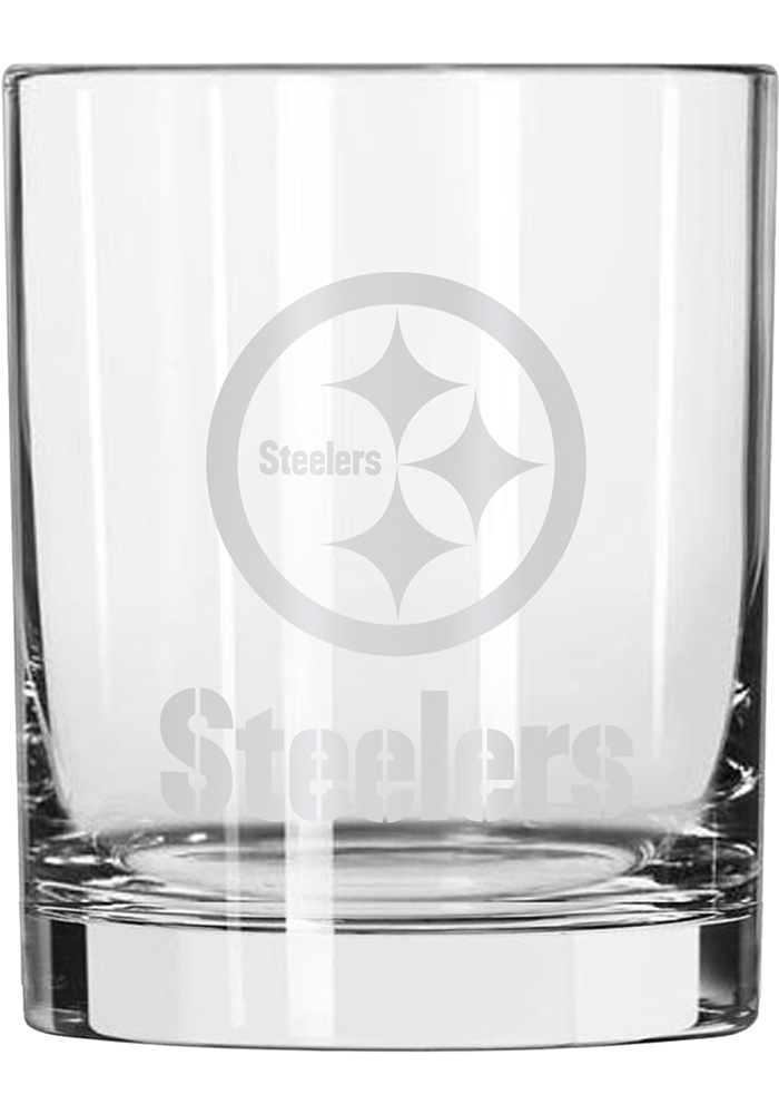 Pittsburgh Steelers 14oz Satin Etch Rock Glass - Image 1