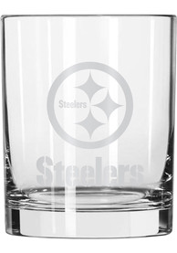 Pittsburgh Steelers 14oz Satin Etch Rock Glass