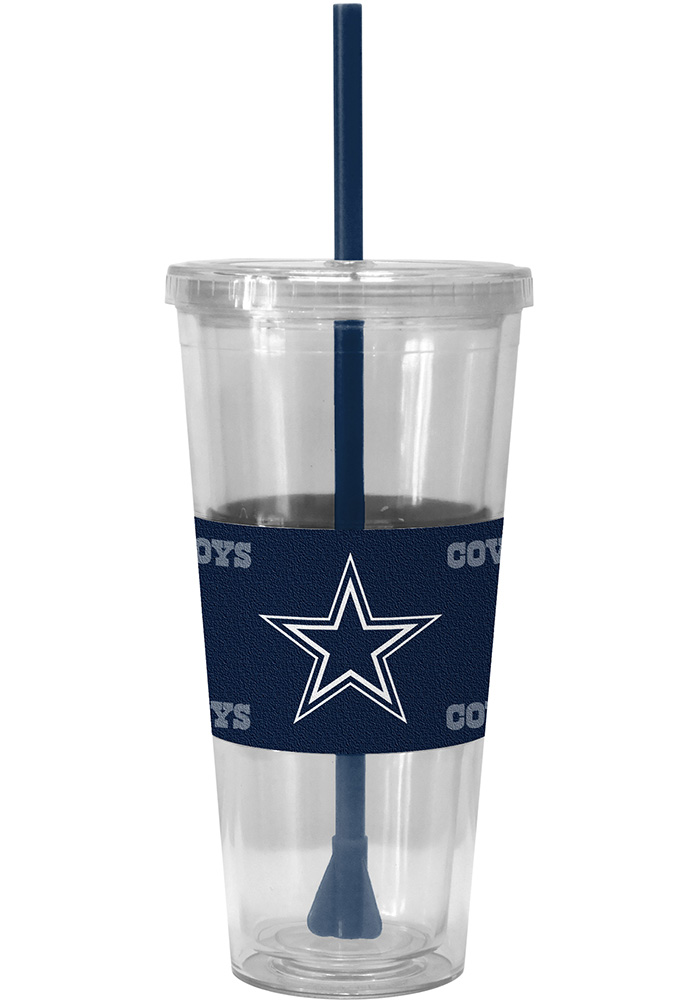 Dallas Cowboys 22oz Sleeved Straw Tumbler - Image 1