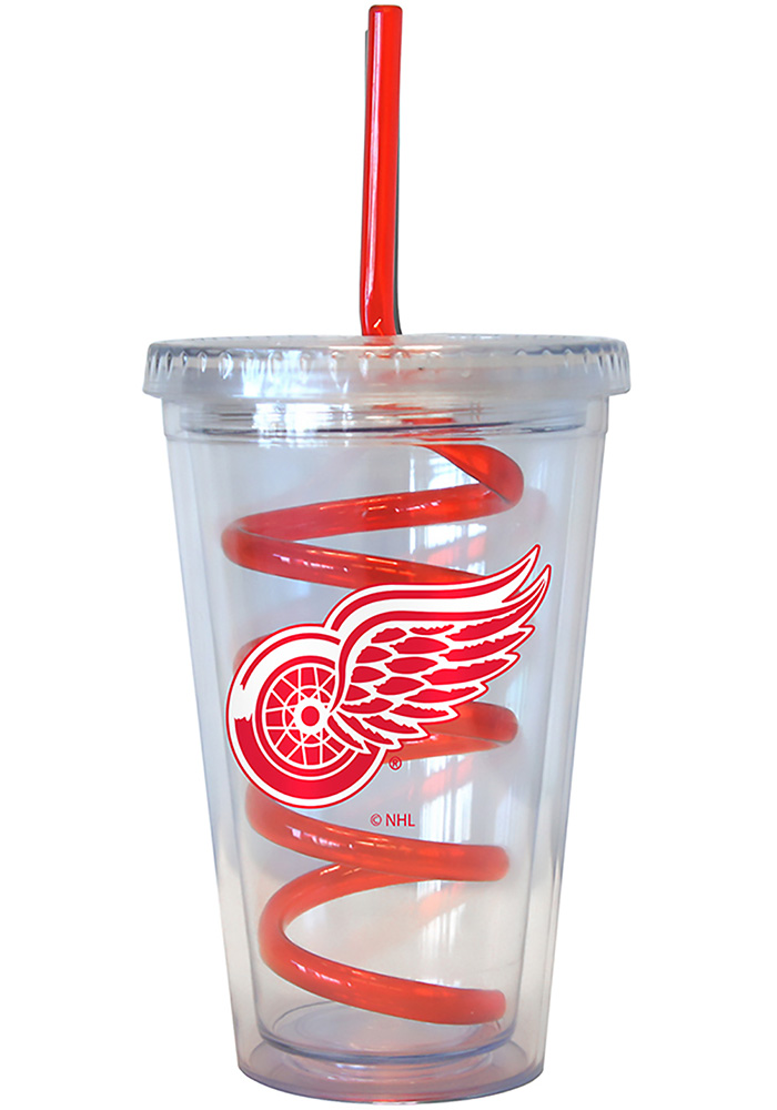Detroit Red Wings 16oz Swirl Straw Straw Tumbler