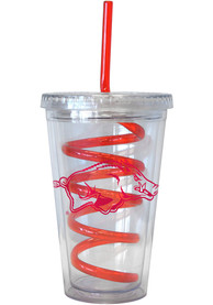 Arkansas Razorbacks 16oz Swirl Straw Straw Tumbler