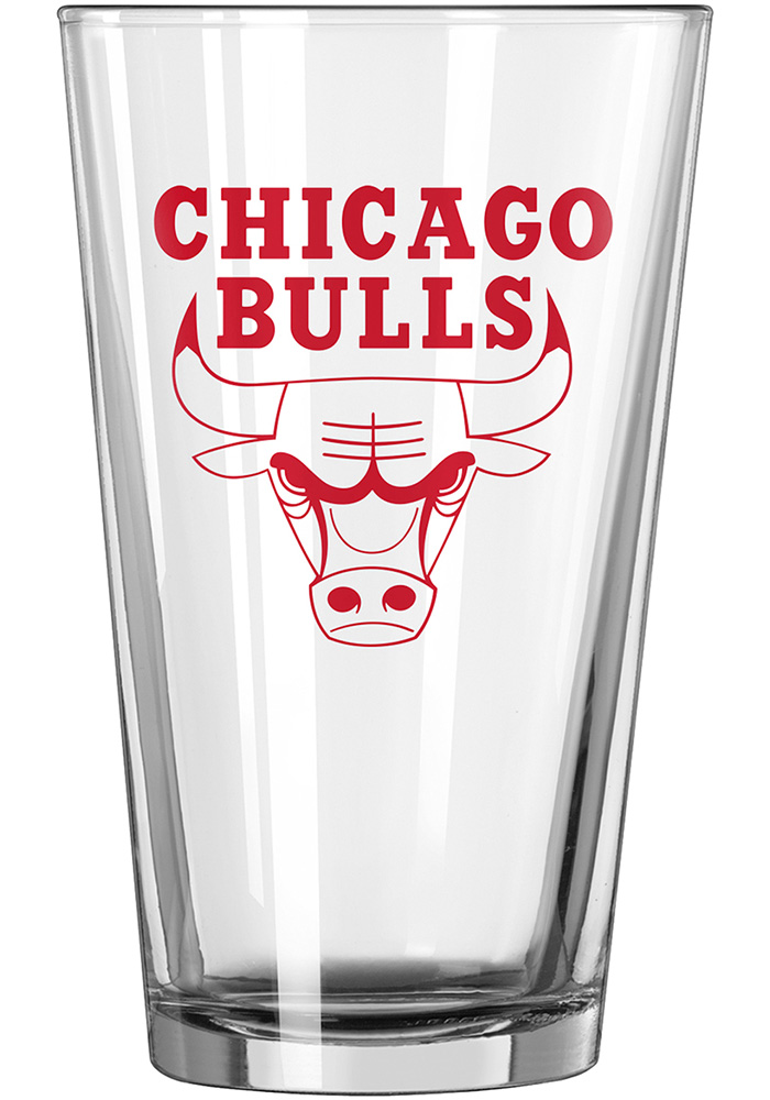 Chicago Bulls 16oz Game Day Pint Glass - Image 1