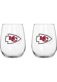 Kansas City Chiefs 16oz Logo Stemless Wine Glass