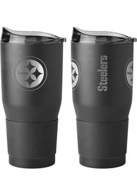 Pittsburgh Steelers Powder Coated 30oz Ultra Stainless Steel Tumbler - Black