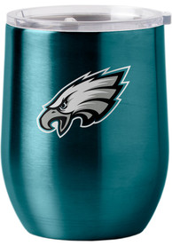Philadelphia Eagles 16oz Curved Ultra Wine Stainless Steel Tumbler - Midnight Green