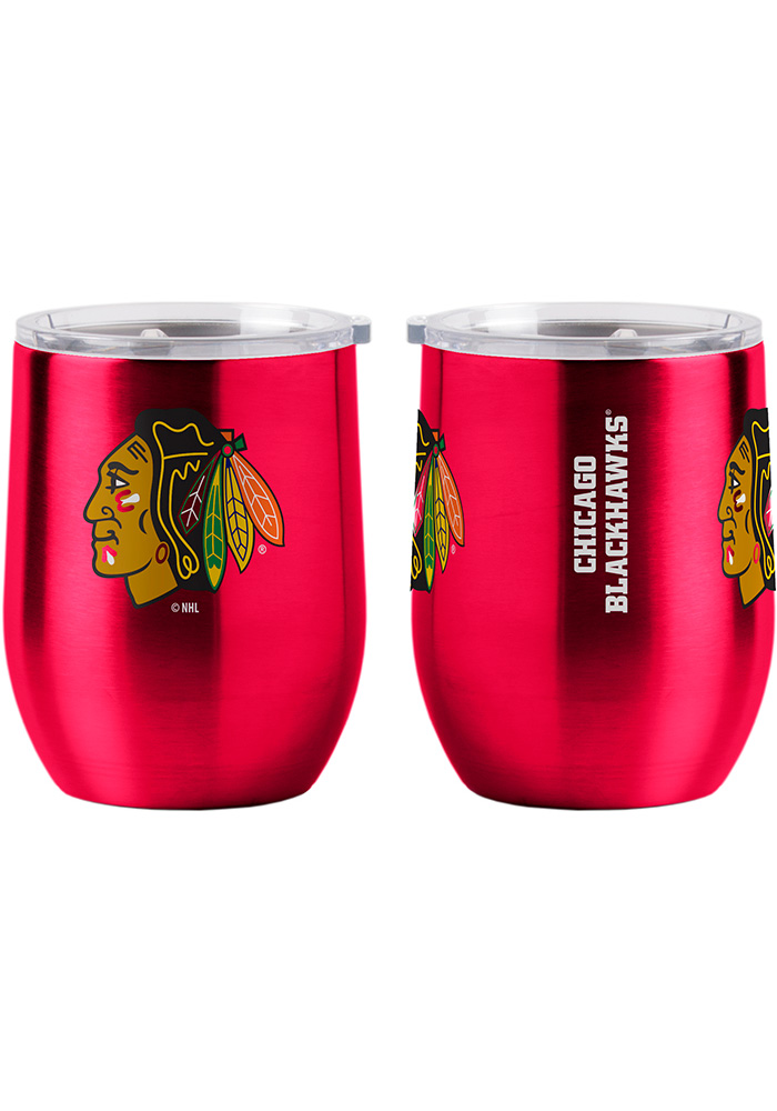 Chicago Blackhawks 16oz Curved Ultra Wine Stainless Steel Tumbler - Black