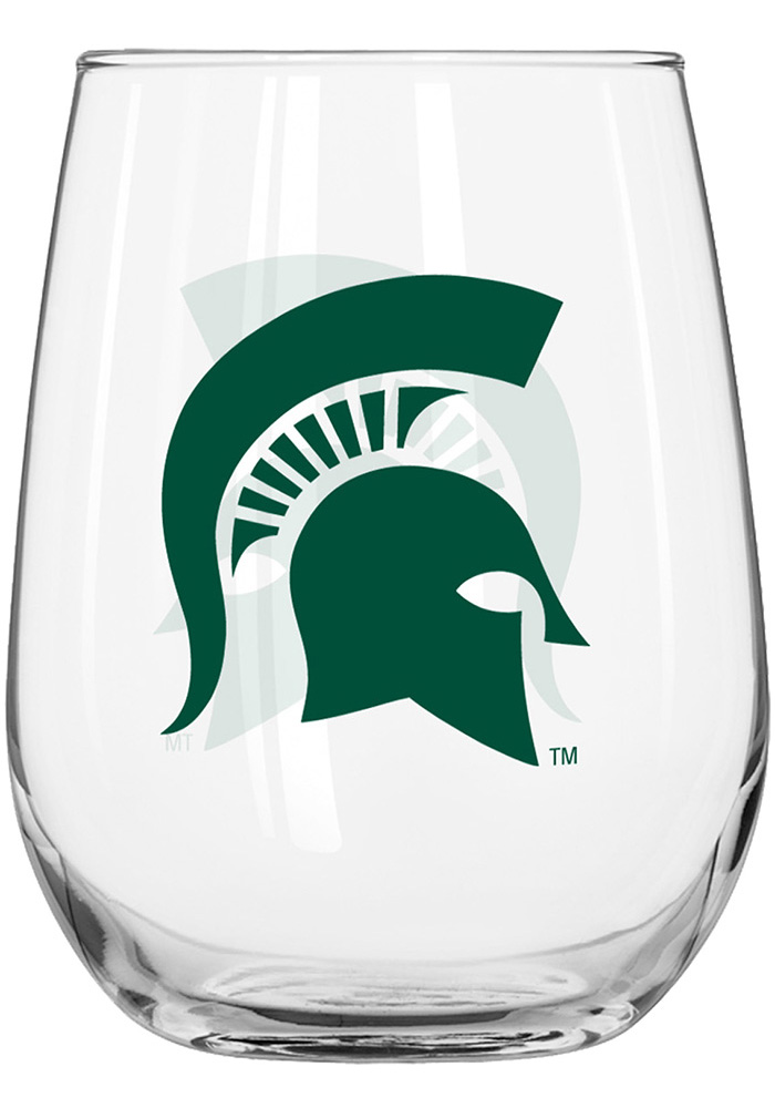 Michigan State Spartans 16oz Stemless Wine Glass - Image 1