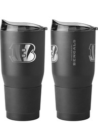 Cincinnati Bengals Powder Coated 30oz Ultra Stainless Steel Tumbler - Black
