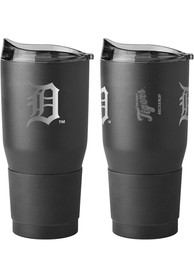 Detroit Tigers Powder Coated 30oz Ultra Stainless Steel Tumbler - Black