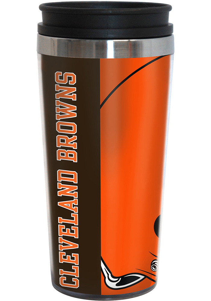 Cleveland Browns 16oz Travel Hype Tumbler - Image 1