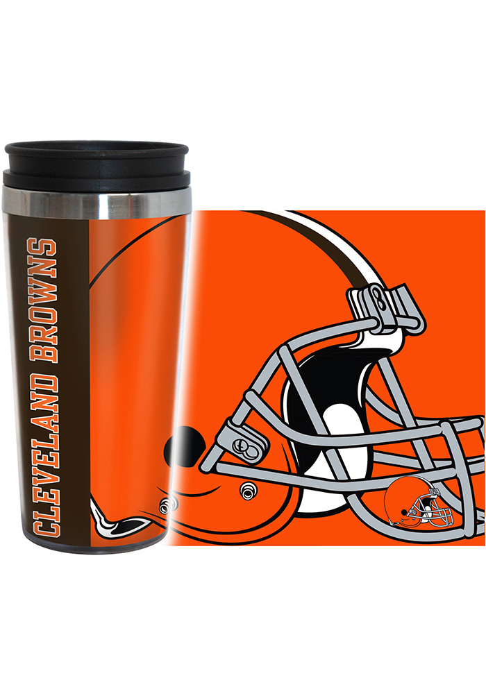Cleveland Browns 16oz Travel Hype Tumbler - Image 2