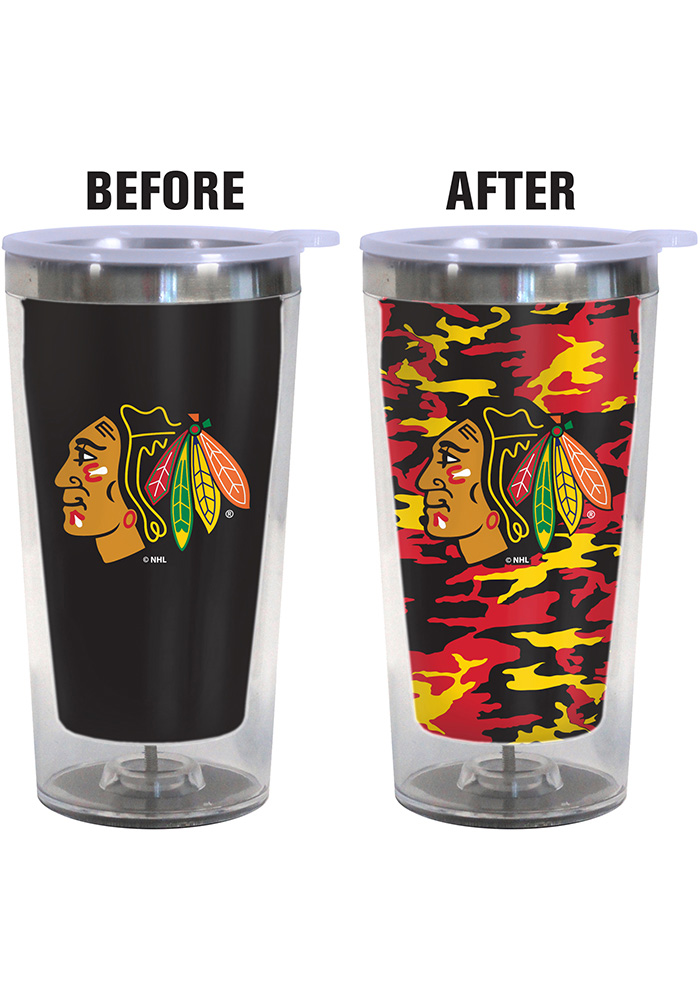 Chicago Blackhawks Color Changing 16oz Travel Mug - Image 2