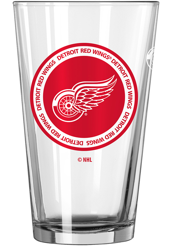 Detroit Red Wings 16oz Pint Glass, Red, GLASS
