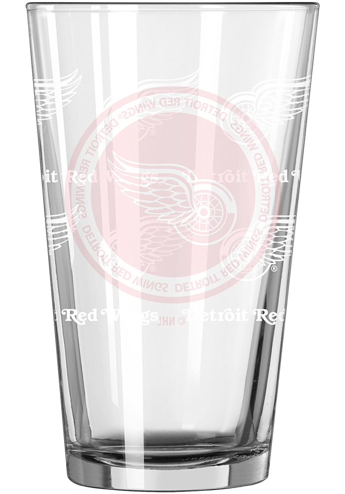 Detroit Red Wings 16oz Pint Glass - Image 2