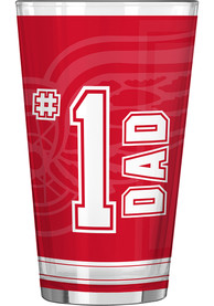Detroit Red Wings 16oz #1 Dad Pint Glass