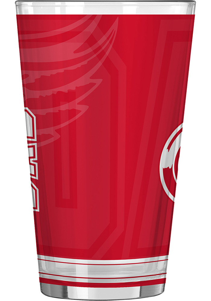 Detroit Red Wings 16oz #1 Dad Pint Glass - Image 2