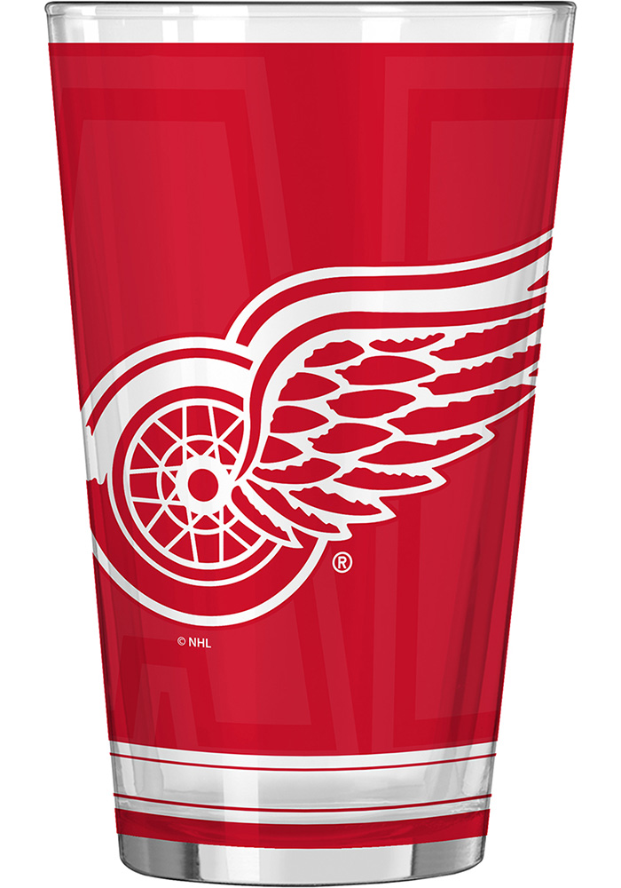 Detroit Red Wings 16oz #1 Dad Pint Glass - Image 3