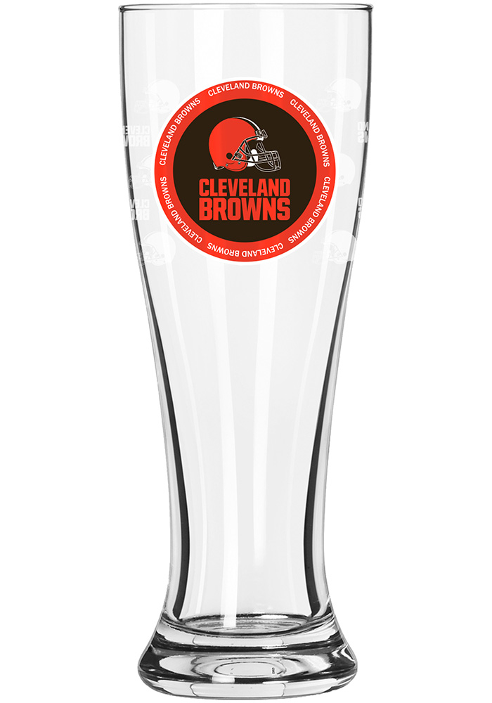 Cleveland Browns 16oz team logo Pilsner Glass - Image 1